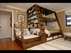 Bunk bed with reading nook.