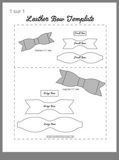 Bow Template, Templates, Felt Bows, Sewing, Leather, Free, Hair Bows, Decorative Frames, Stencils