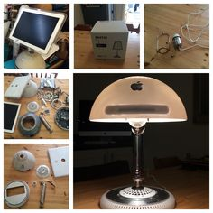 A lamp I made from an old imac Imac G4, Car Cell Phone Holder, Thunderbolt Display, Gnu Linux, Tech Branding, Apple Mac, Retina Display, Apple Products, Recycling