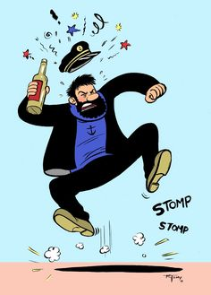 captain haddock // he has just a wee bit of a temper...