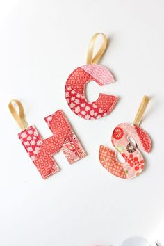 DIY Initial Fabric Ornament And Gift | Shelterness
