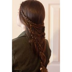 A Tolkien or Fairytale hairstyle. Was used in a book trailer for a... ❤ liked on Polyvore featuring hair and hairstyles