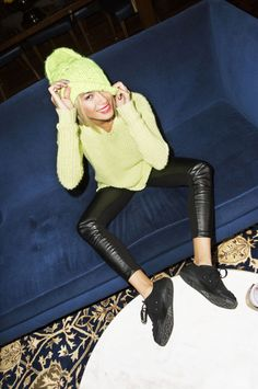 The DJ, fashion star, and all-around cool girl proves that looking fly doesn't have to cost a fortune. Yellow Things, The Dj, Neon Yellow, Star Fashion, Cool Girl, Magazines, Winter Outfits, 50th, Winter Fashion