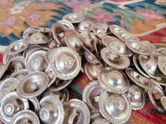 Flat Turkoman Turkmen Tribal Buttons DIY Kuchi by NumiSupplies