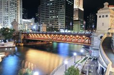 That bridge tho. Chicago Buildings, Cool Restaurant, State Street, My Kind Of Town, Little Italy, Water Tower, What A Wonderful World, Wonders Of The World, Things That Bounce