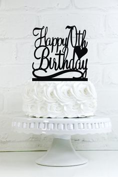 Items similar to Birthday Cake Topper Happy Birthday Cake Topper Glitter Cake Topper Cake Decoration on Etsy 70th Birthday Ideas For Mom, Happy 80th Birthday, 70th Birthday Parties, Birthday Celebration, Happy 30th, Italian Party Decorations, 30th Birthday Cake Topper, Birch, Stencils