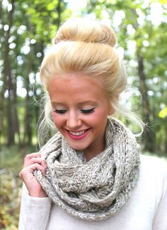 I want my hair to look full like that when I put it in a bun