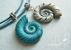Polimer clay snail pendants how-to (in hungarian, with pictures)