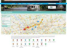 Die Hauptroute KulturKanal (gelbe Markierung) zeigt Ihnen die schönsten Strecken am Kanal und gibt Tipps für Tagesausflüge. Die Route führt zum größten Teil über die Betriebswege des Wasser- und Schifffahrtsamtes Duisburg-Meiderich direkt am Nord- und Südufer des Kanals entlang.  Über die Filterfunktion in der Karte können Sie gezielt nach Orten und Themen suchen. - Metropoleruhr