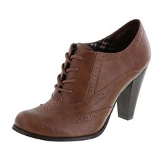 Women's Jorge Oxford ($10) ❤ liked on Polyvore featuring shoes, boots, high heeled footwear, cushioned shoes, high heel oxfords, oxford shoes and round toe oxfords