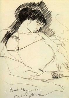 Amedeo Modigliani, Maud Abrantes 1908 on ArtStack #amedeo-modigliani #art