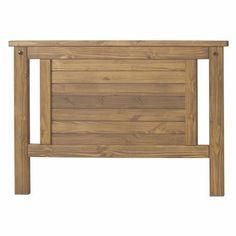 Cabeceira Para Cama Box Casal 138x88 Design Rústico - Madeira Maciça - Cera Mel