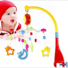 The Newborn Baby Toy Bed Bell Years Old Hanging 360 Degree Rotation With Music Kids Toys Educational Musical 0-12 Months