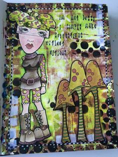 Marlene Bach Pederson  for the Dylusions Facebook July Challenge....