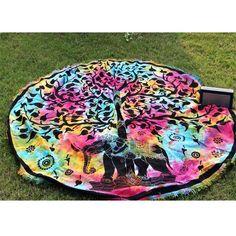 Multi Tye Dye Tree Elephant Beach Garden Roundie Throw – TheNanoDesigns