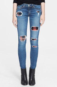 Rag & Bone/Jean Skinny Stretch Jeans  ($396)