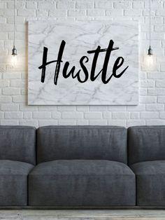 Hustle Art Print, Printable Art, Poster, Marble Print, Black and White, Instant Download, Printable Art, Pink Art, Motivational, Inspiration