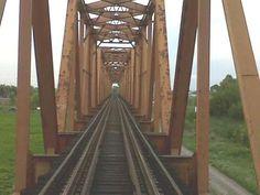 Arriba del puente del tren