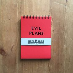 Evil Plans Red Notebook