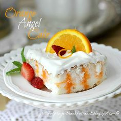 A very lite and very pretty dessert. Just 140 calories per serving is sweet! Orange Angel Cake Pampered Chef Delightful Desserts cookbook, page 10-11 PRINT RECIPE Servings 15 1 package angel food cake mix 1 package (0.3-oz) sugar free orange jello (or flavor of choice) 3/4 cup boiling water 1/2 cup cold water 2 cups...Read More