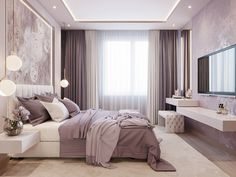 Soft, feminine and serene that's what these bedrooms are. Soft colors with pops of color in decor, add a blanket and a couple of pillows to make it all come together and you have your own feminine bedroom. Home Decor Bedroom, Modern Bedroom, Interior Design Living Room, Living Room Decor, Feminine Bedroom, Bedroom Ideas, Bedroom Furniture, Bedroom Ceiling, Interior Livingroom