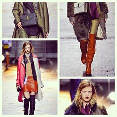 Layers of leather, new colour combinations & chandelier earrings from 3.1 Phillip Lim #nyfw #mbfw #fashion #trends #aw13