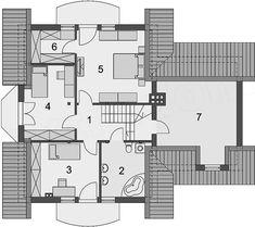 Projekt domu Gracjan 131,33 m2 - koszt budowy 249 tys. zł - EXTRADOM San Antonio, Planer, Portal, House Plans, Floor Plans, House Design, How To Plan, Architecture, House Styles