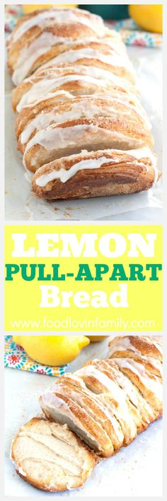 Easy Lemon Pull-Apart Bread. Using canned biscuits, lemon zest, sugar and topped with lemon glaze. Great for dessert, brunch or breakfast. Pull-Apart Bread|Monkey Bread| Lemon