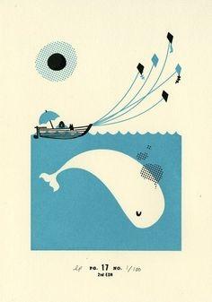 Whale tale print - labpartners (Pinterestから)