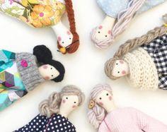Personalizada de encargo muñeca Tilda muñeca de por SilkWithCotton