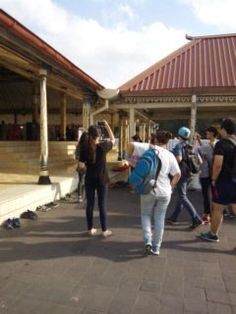 When we were walking around the Grand Mosque in Yogyakarta, we had to take off our shoes when we walked on certain tiles, because it was considered disrespectful not to do so.