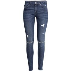 H&M Slim Regular Jeans ($25) ❤ liked on Polyvore featuring jeans, pants, bottoms, calças, dark denim blue, 5 pocket jeans, slim leg jeans, slim fit jeans, slim blue jeans and h&m jeans