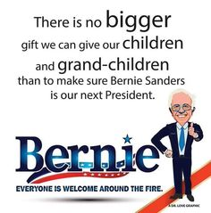 If any Republican or Hillary Clinton gets elected your kids and grandkids will be eating more and more poisonous cancer causing pesticides...only Bernie Sanders seems to be looking out for America's well being and not his own bank account !!!
