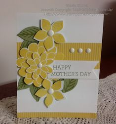 handmade Mother's Day card from Stampin' & Scrappin' with Stasia ... punched flowers ... Stampin' Up!