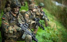 We love this picture of German paratroopers (fallschirmjäger)! Go to Military1st.co.uk online store for all your gear in flecktarn camo.