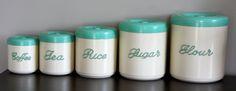 retro kitchen canisters - bakelite
