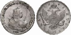 Rouble. Russian Coins. Elizabeth I. 1741-1761. 1746 SPB. Bit 261. EF. Price realized 2011: 1.000 USD.