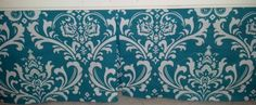 Baby crib skirt Turquoise Damask & white . Matching Valance avble . Fits toddlers beds.  Nursery baby bedding decor ,   Free Shipping by PrettyThreads22 on Etsy