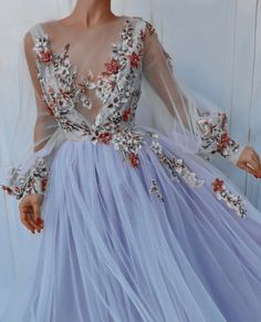 Mint Prom Dresses, Prom Dresses With Sleeves, Tulle Prom Dress, Trendy Dresses, Elegant Dresses, Beautiful Dresses, Maxi Dresses, Formal Dresses, Summer Dresses