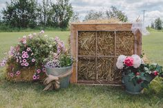 rustic farm wedding ceremony entrance decor http://www.weddingchicks.com/2013/10/02/family-farm-wedding/