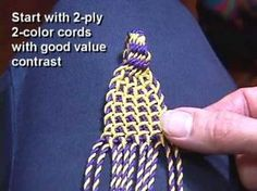 """Watch how Linda Hendrickson uses a gripfid to make the ply-split """"Waffle"""", and see items she has made with this technique, including braids, several mats, a . Tapestry Bag, Tapestry Crochet, Macrame Patterns, Weaving Patterns, Tablet Weaving, Hand Weaving, Crochet Home, Knit Crochet, Finger Weaving"""