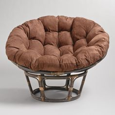 Interesting Papasan Chair Target for Inspiring Unique Chair Ideas: Smooth Brown Cushions On Papasan Chair Target For Exciting Chair Design Plus Round Wicker Chair Also Folding Papasan Chair Ikea Outdoor, Outdoor Dining, Outdoor Spaces, Papasan Cushion, Papasan Chair, Office Chair Cushion, Chair Cushions, Office Sofa, Round Wicker Chair