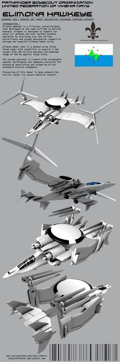 Elimona Hawkeye AEW Tiltrotor aircraft by Stealthflanker.deviantart.com on @DeviantArt