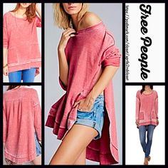 Selling this FREE PEOPLE Tunic Pullover in my Poshmark closet! Free People Dress, Free People Tops, Pastel Red, Model Photos, Fashion Tips, Fashion Design, Fashion Trends, Color Red, Fitness Fashion