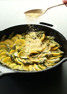 Vegan Zucchini Asparagus Gratin   Grain and Dairy Free and SO so delicious