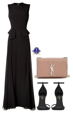 """Untitled #1327"" by gabbyriera ❤ liked on Polyvore featuring Foundrae, Elie Saab and Yves Saint Laurent"