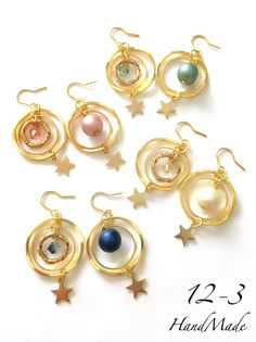 ハンドメイドマーケット+minne(ミンネ)|+【受注販売】まる×リング+pierce/earring
