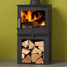 The Malvern LS has all the features of the standard Malvern model but with the addition of a convenient integral log storage area under the stove.