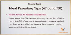 Ideal Parenting Tips (Tip 47)
