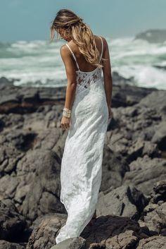 Aila Blue Lagoon dress in plumeria lace #soleilblue